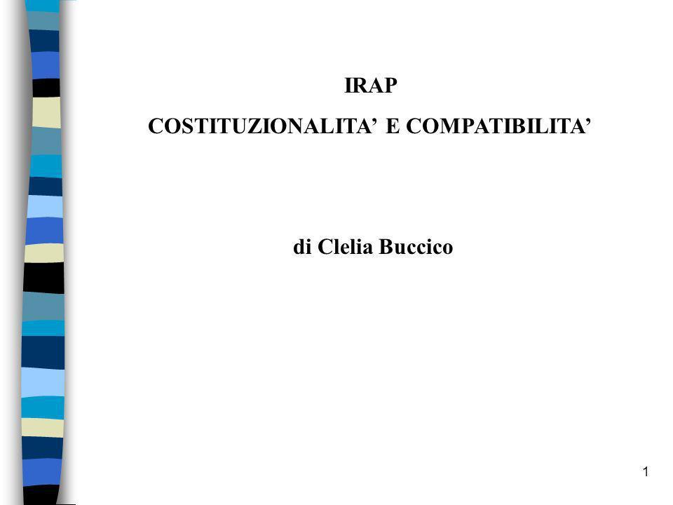 COSTITUZIONALITA' E COMPATIBILITA'