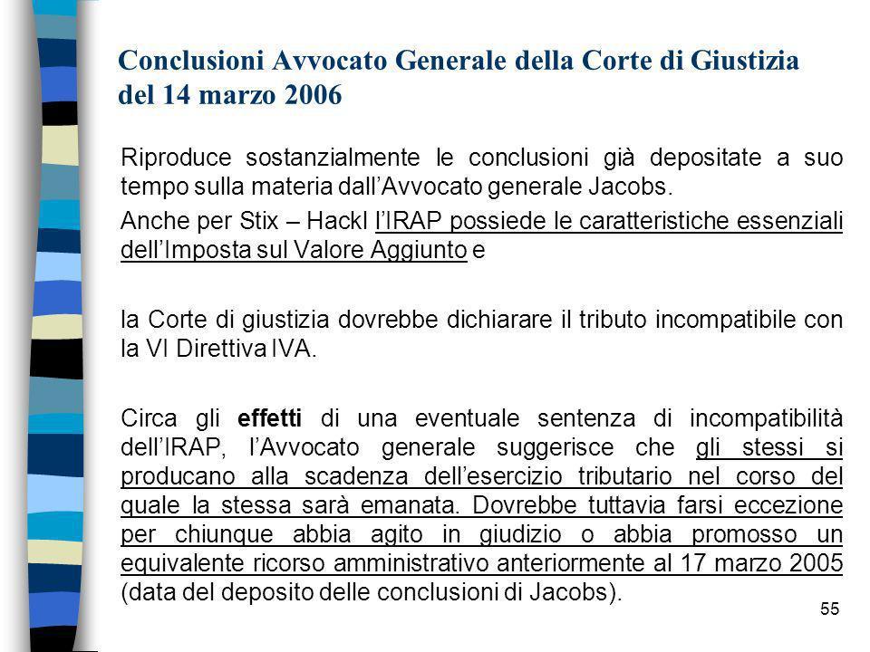Conclusioni Avvocato Generale della Corte di Giustizia del 14 marzo 2006