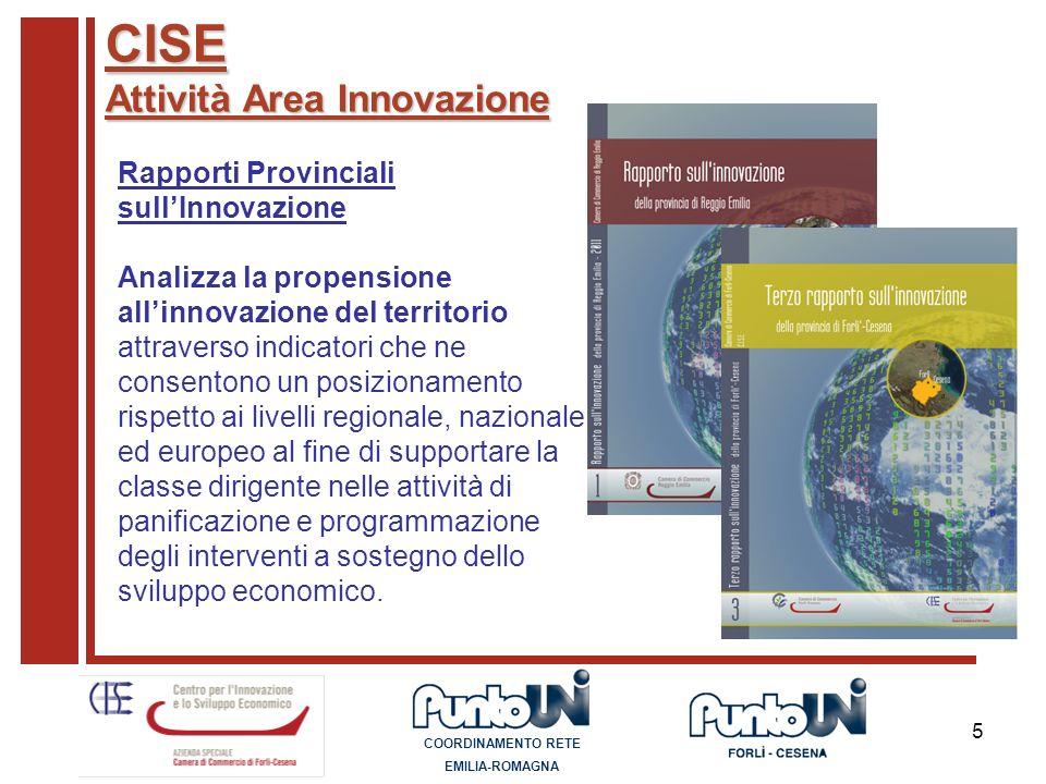 CISE Attività Area Innovazione Rapporti Provinciali sull'Innovazione