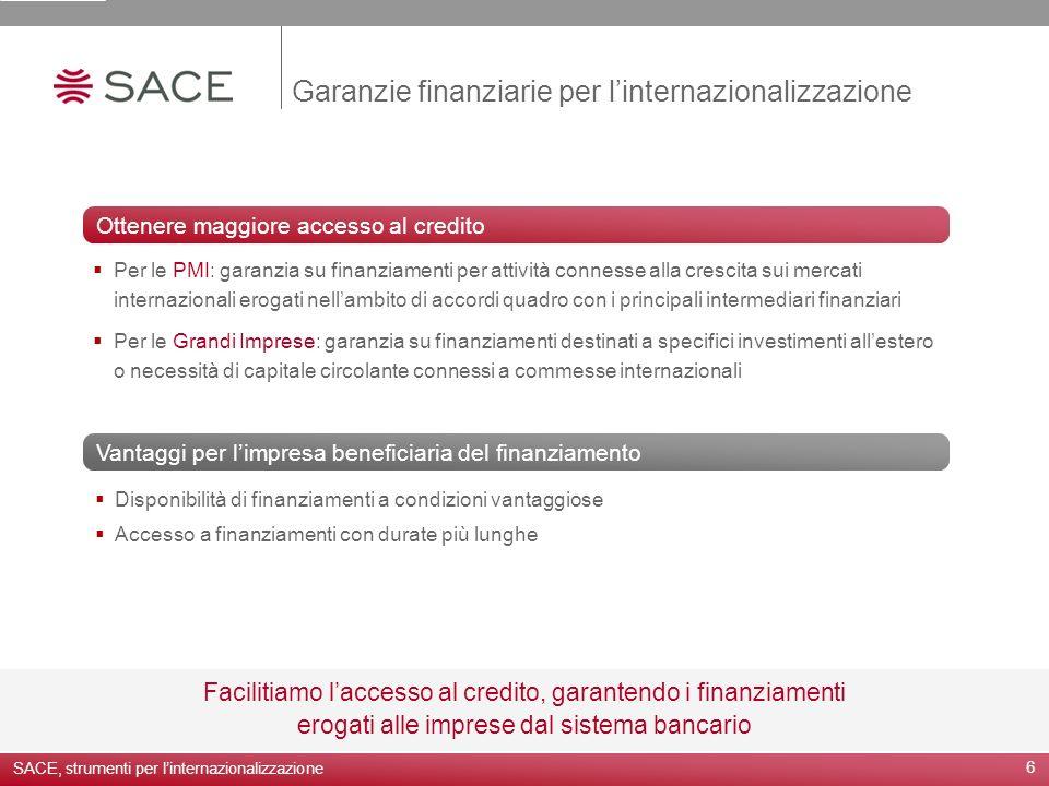 Garanzie finanziarie per l'internazionalizzazione