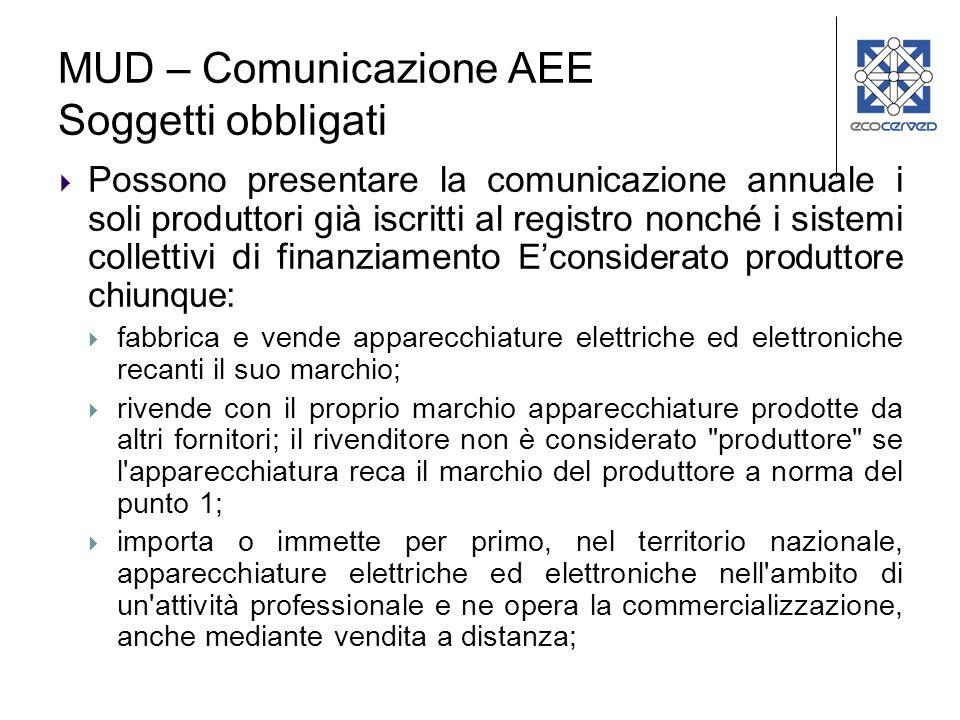 MUD – Comunicazione AEE Soggetti obbligati