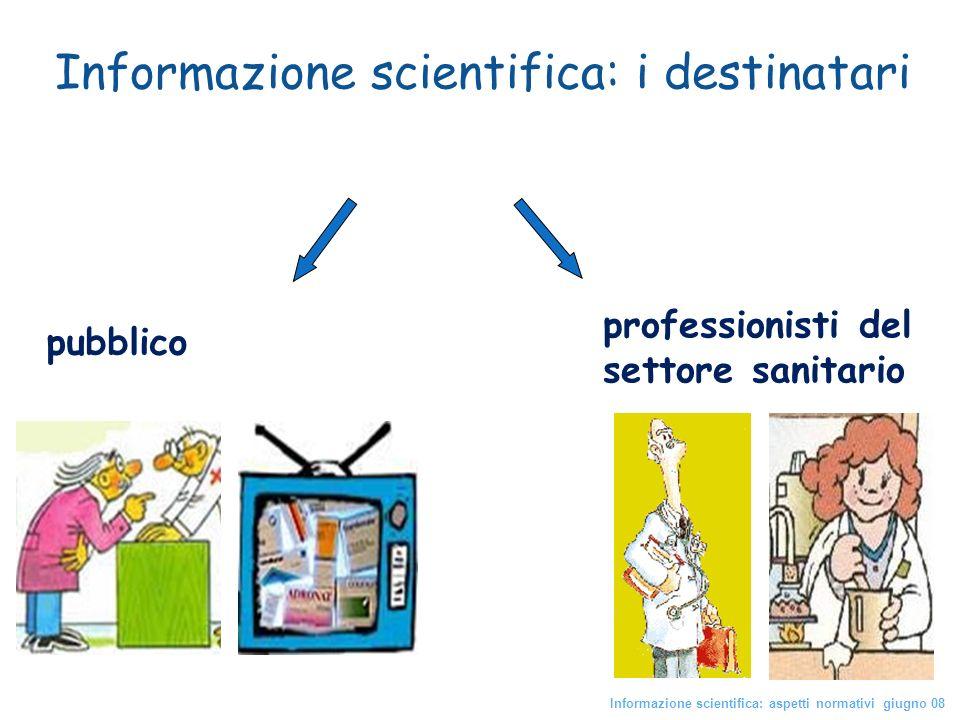 Informazione scientifica: i destinatari