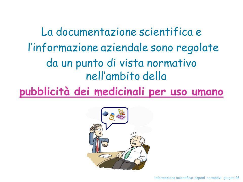 pubblicità dei medicinali per uso umano