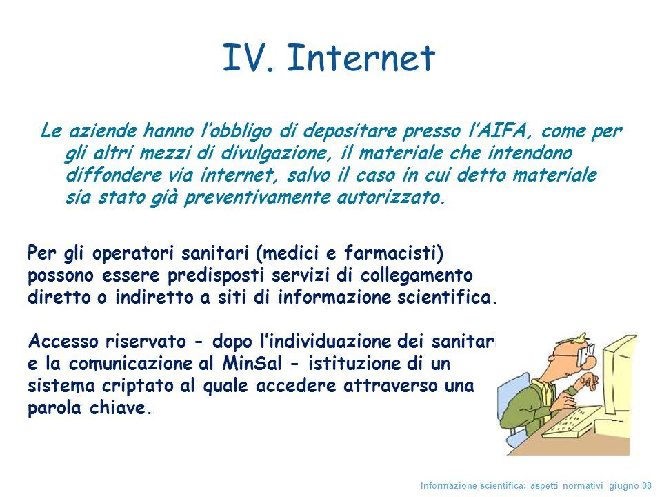 IV. Internet