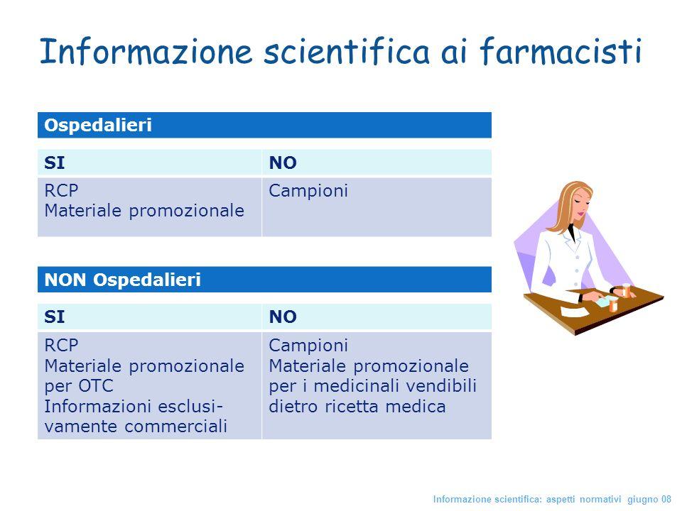 Informazione scientifica ai farmacisti
