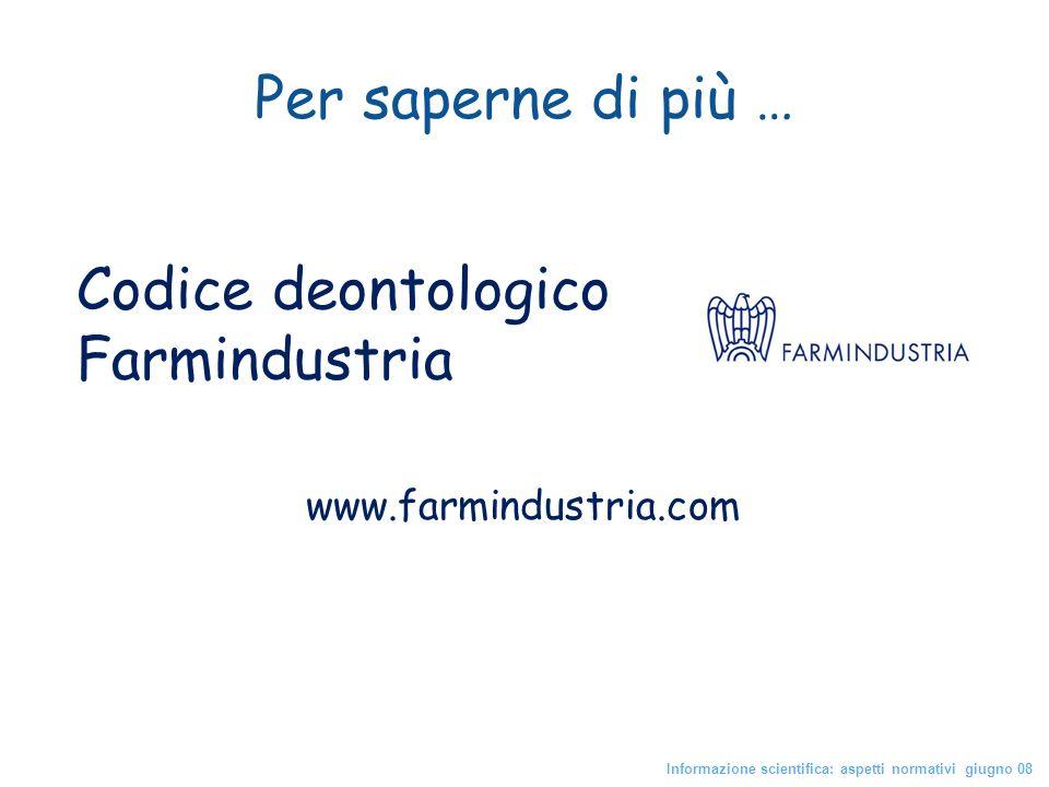 Codice deontologico Farmindustria