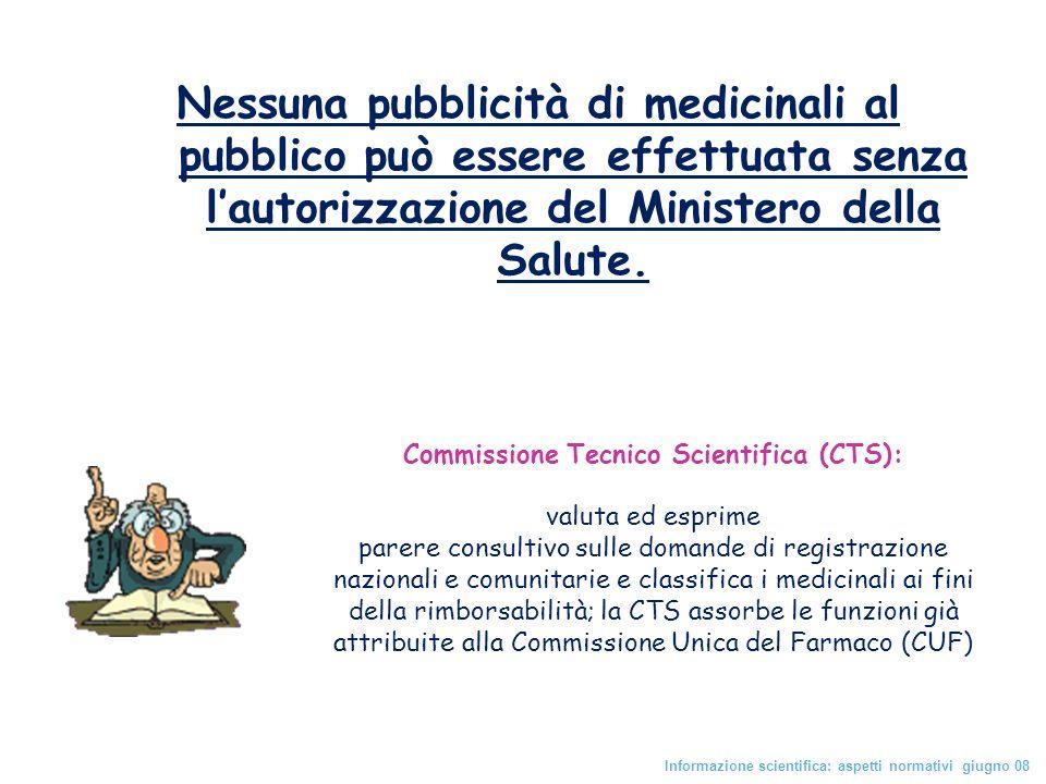 Commissione Tecnico Scientifica (CTS):