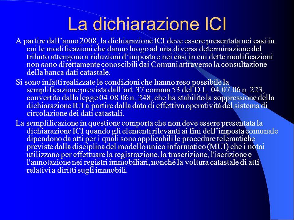 La dichiarazione ICI