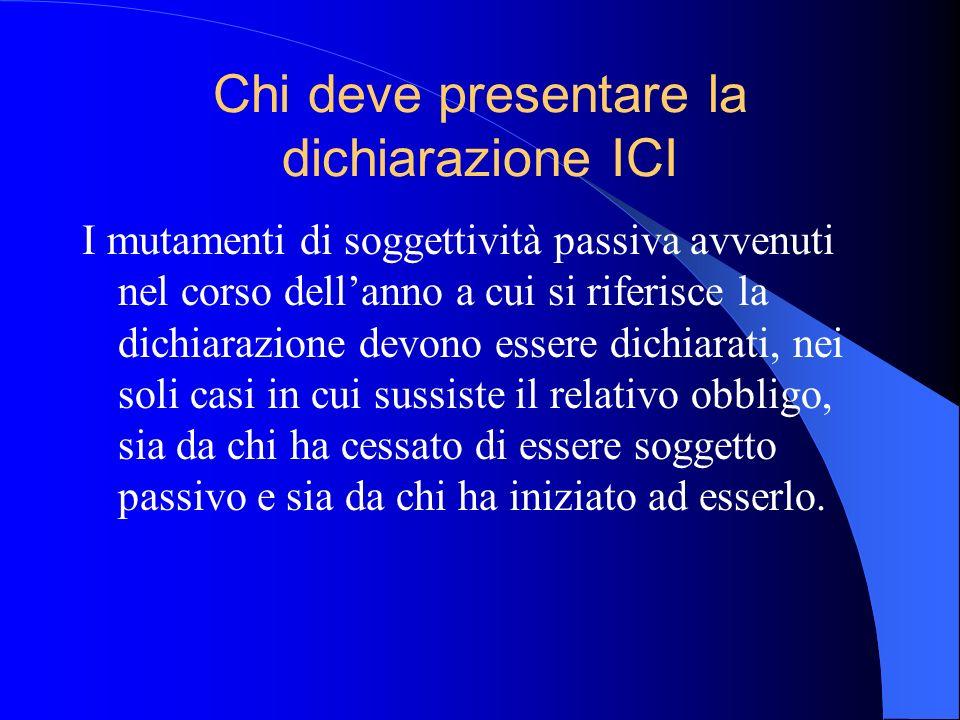 Chi deve presentare la dichiarazione ICI