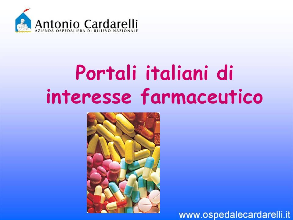 Portali italiani di interesse farmaceutico