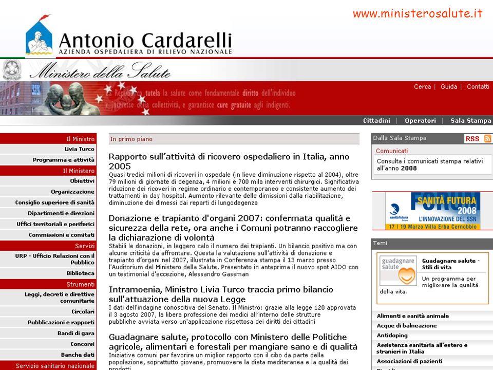www.ministerosalute.it