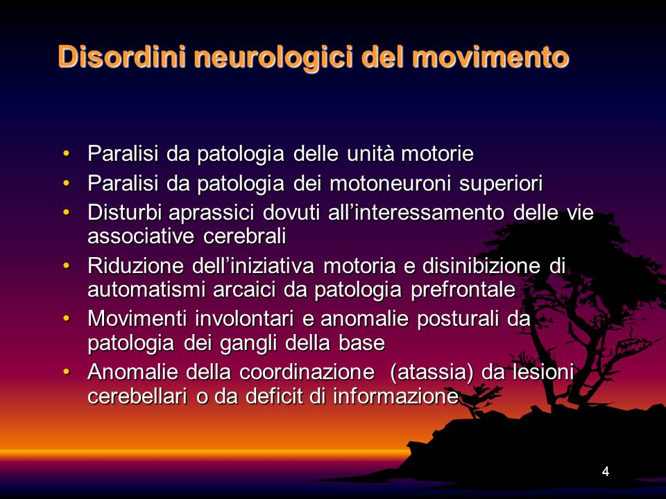 Disordini neurologici del movimento