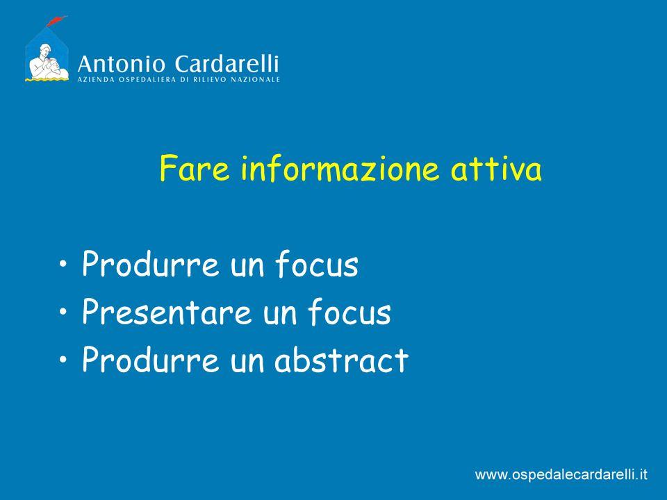 Fare informazione attiva