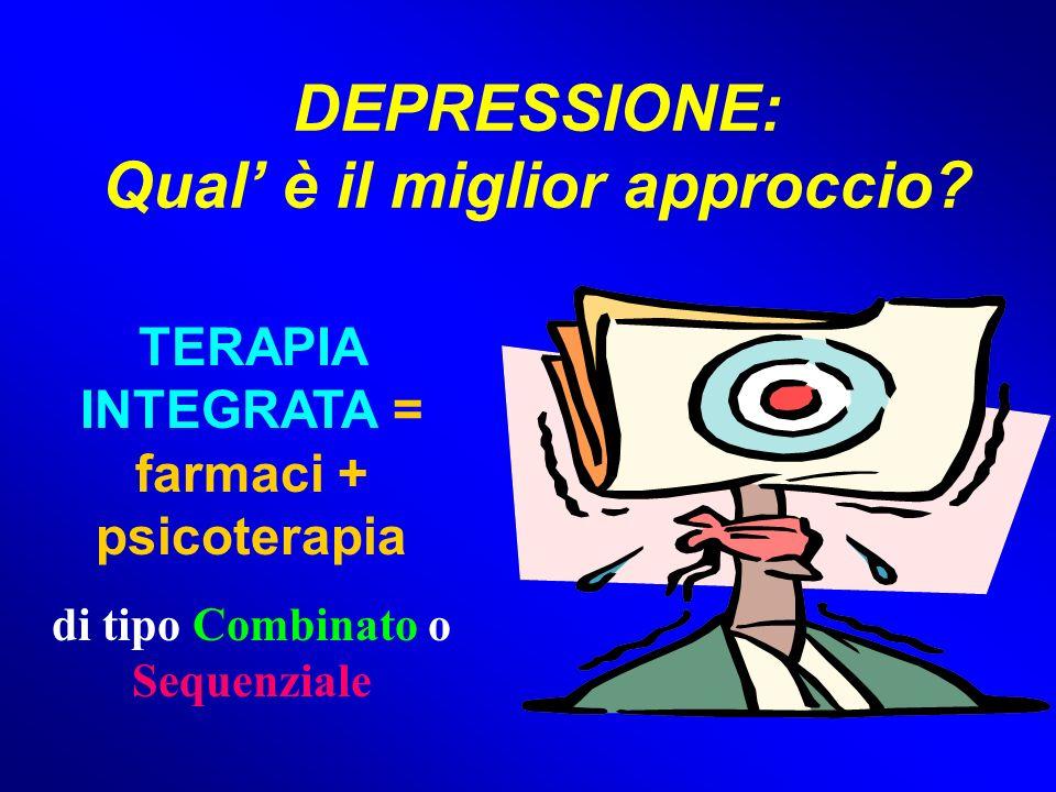 DEPRESSIONE: Qual' è il miglior approccio