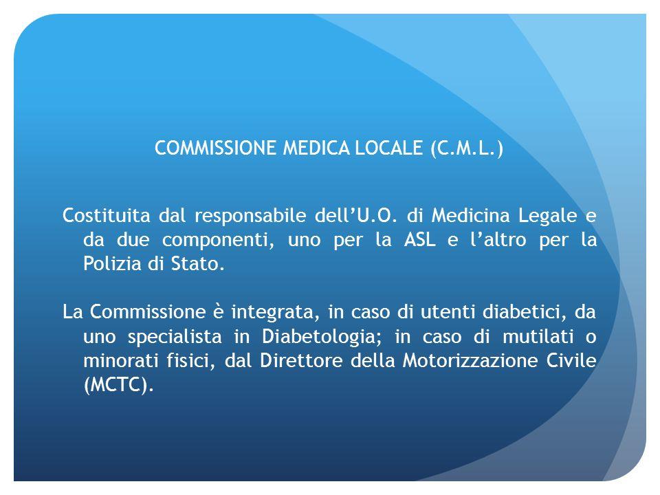 COMMISSIONE MEDICA LOCALE (C. M. L