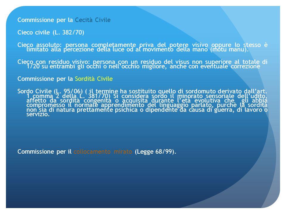 Commissione per la Cecità Civile Cieco civile (L