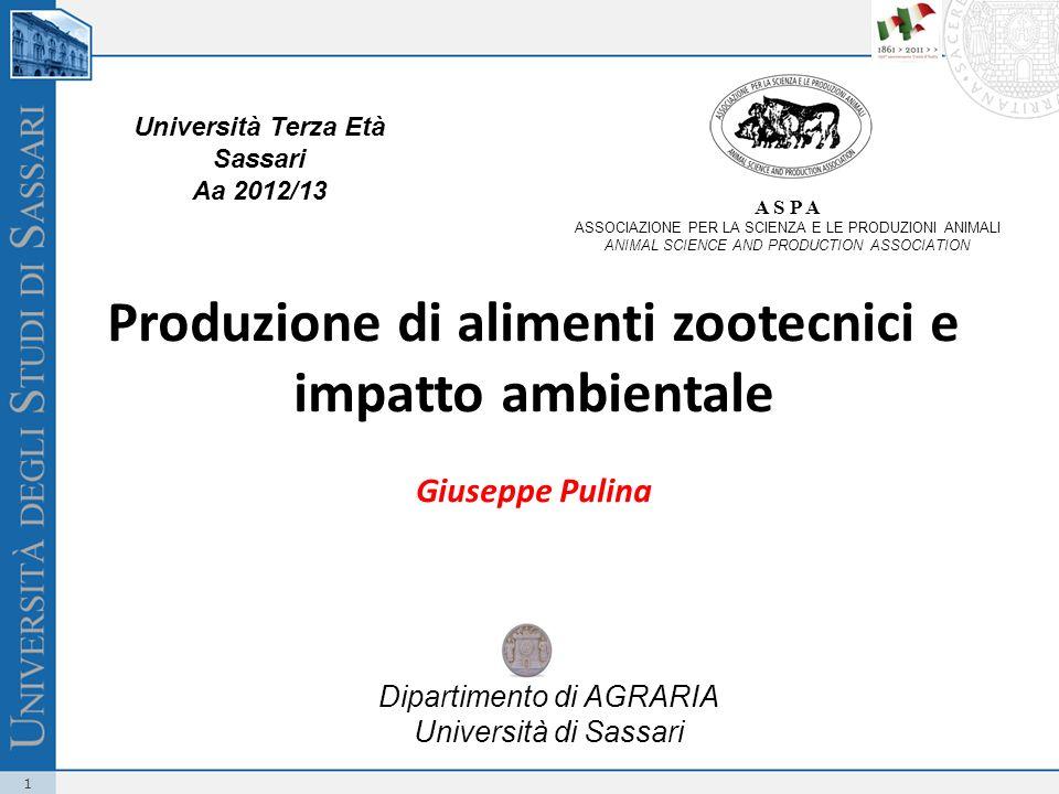 Produzione di alimenti zootecnici e impatto ambientale