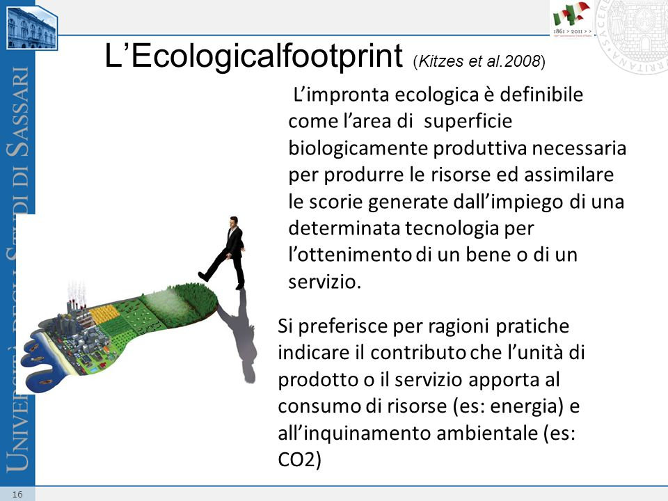 L'Ecologicalfootprint (Kitzes et al.2008)