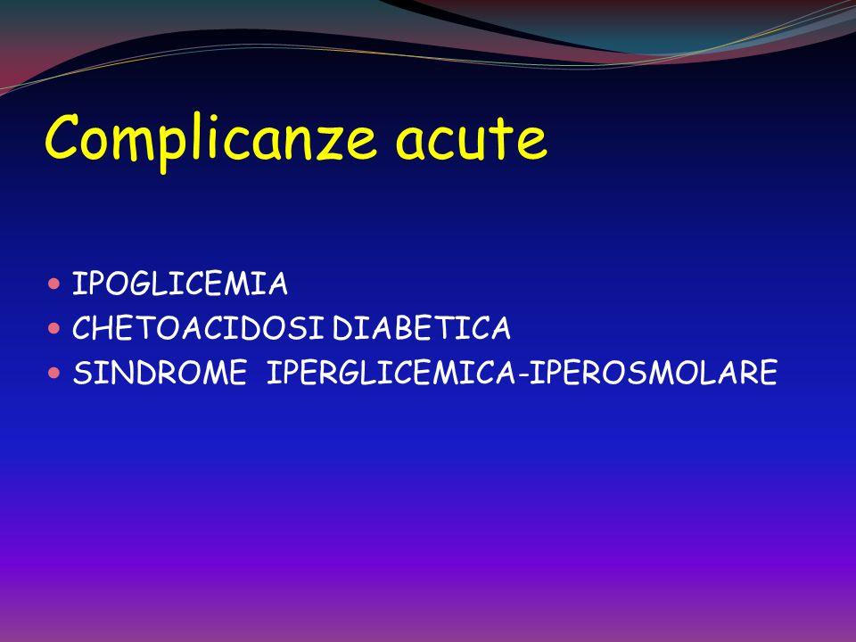 Complicanze acute IPOGLICEMIA CHETOACIDOSI DIABETICA