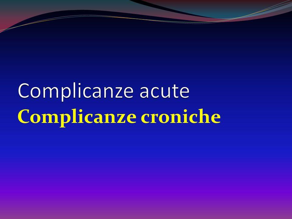 Complicanze acute Complicanze croniche