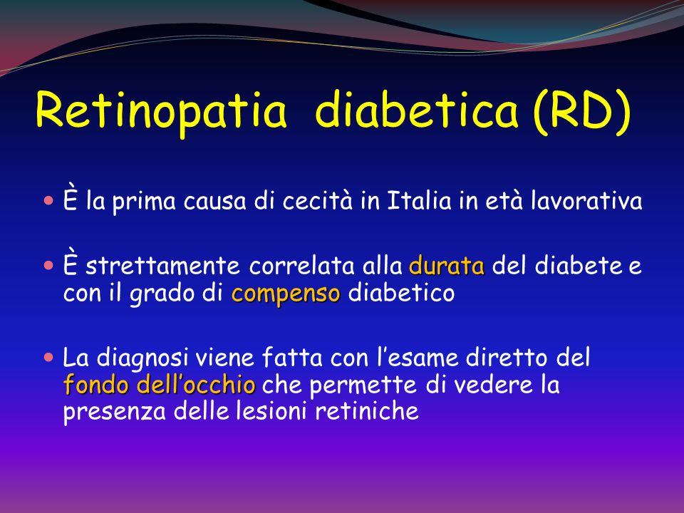 Retinopatia diabetica (RD)