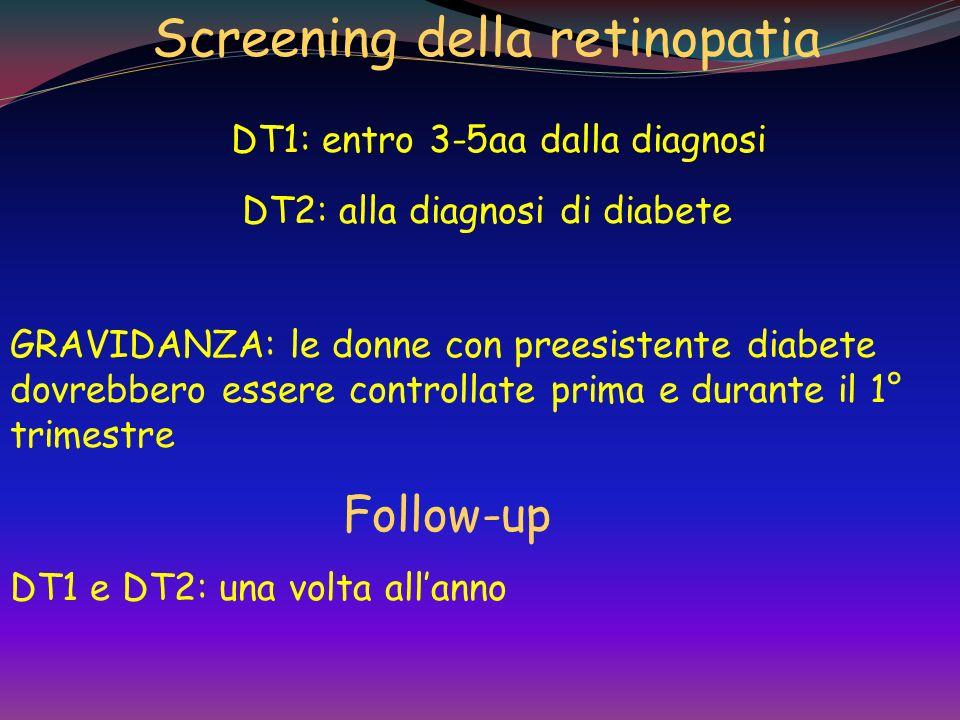 Screening della retinopatia DT1: entro 3-5aa dalla diagnosi