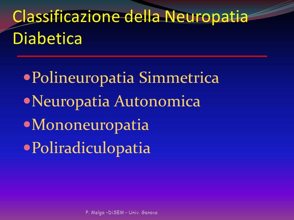 Classificazione della Neuropatia Diabetica