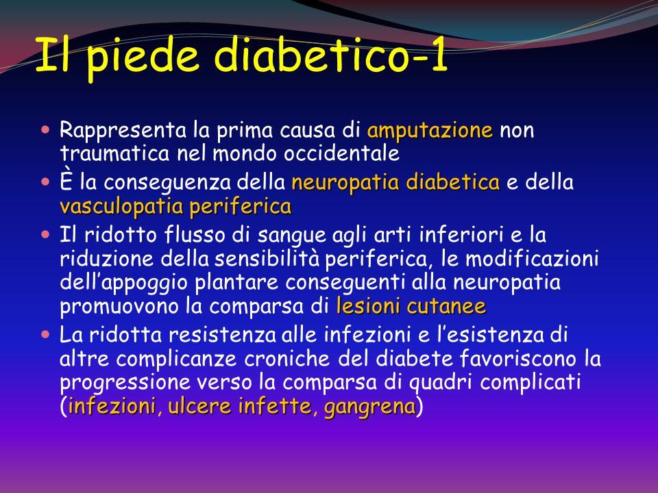 Il piede diabetico-1 Rappresenta la prima causa di amputazione non traumatica nel mondo occidentale.