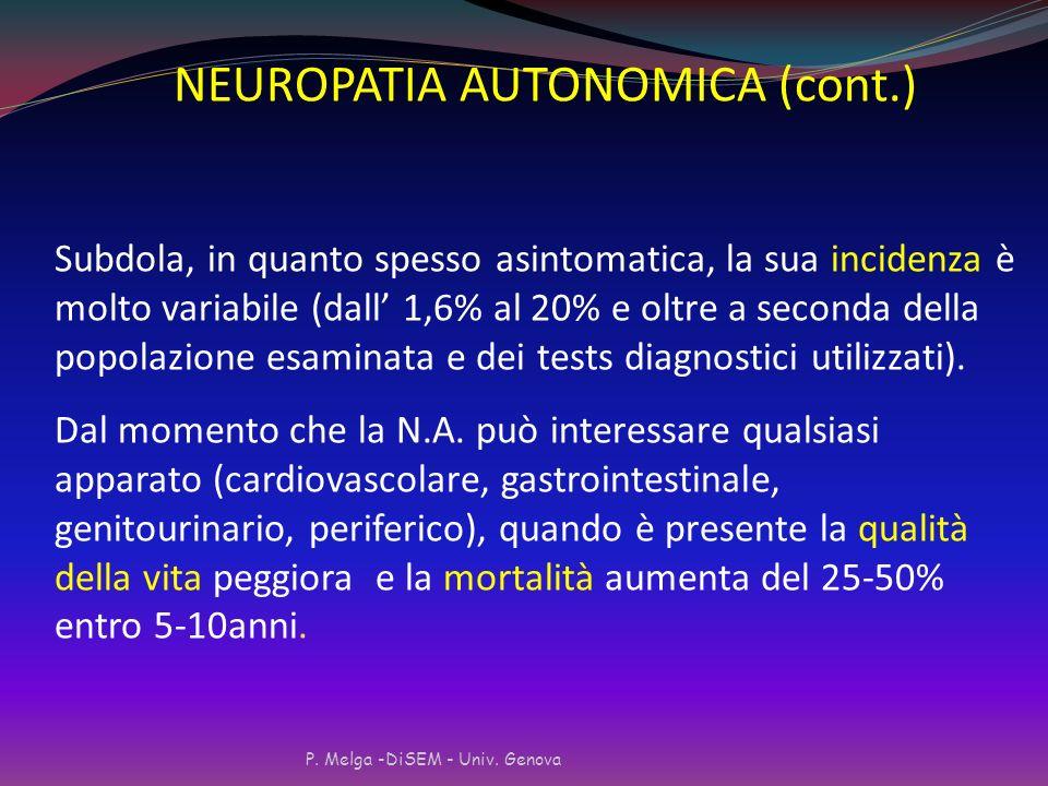 NEUROPATIA AUTONOMICA (cont.)