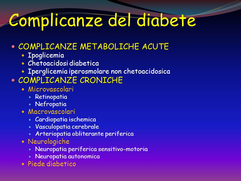 Complicanze del diabete