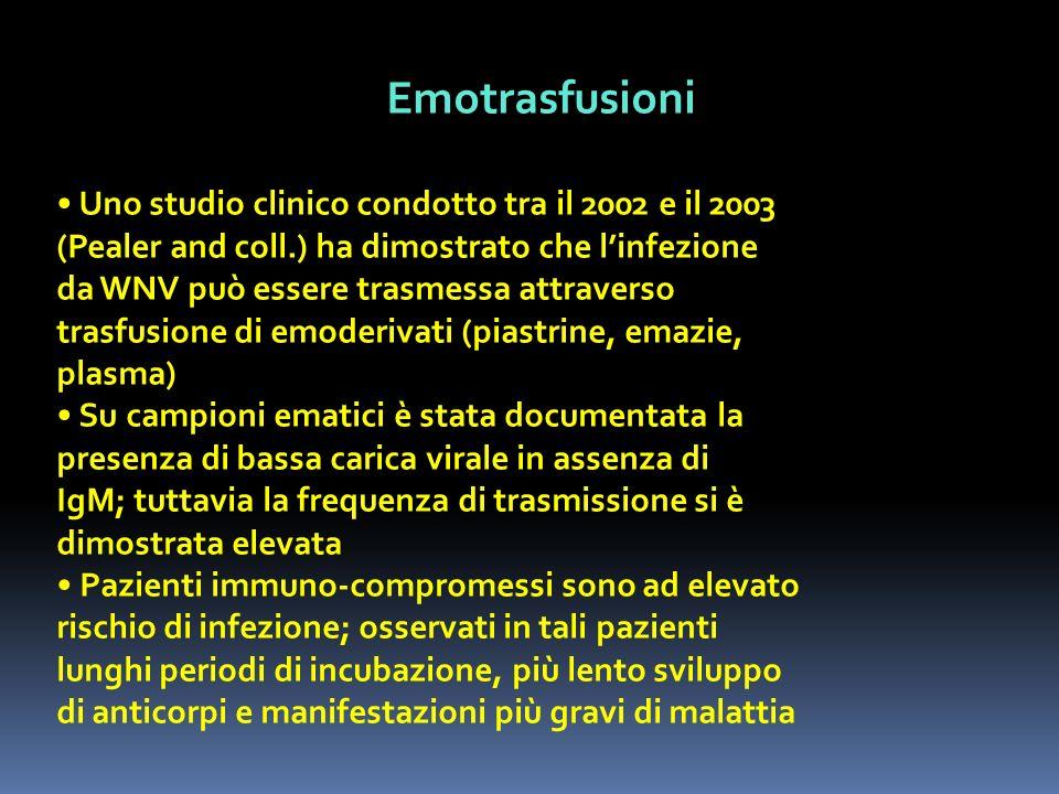 Emotrasfusioni • Uno studio clinico condotto tra il 2002 e il 2003
