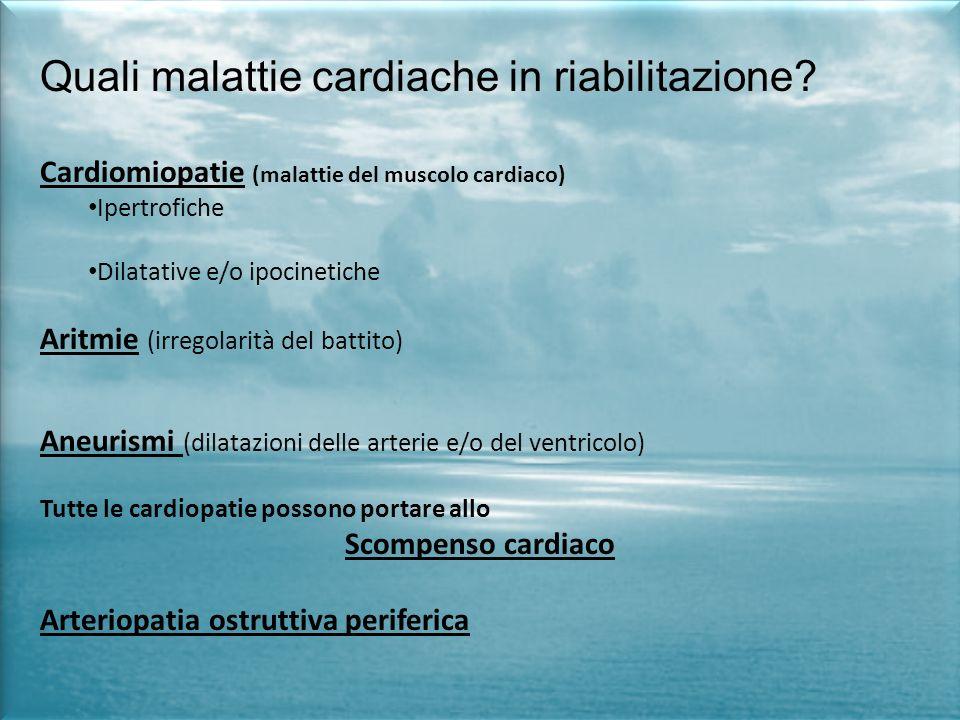 Quali malattie cardiache in riabilitazione