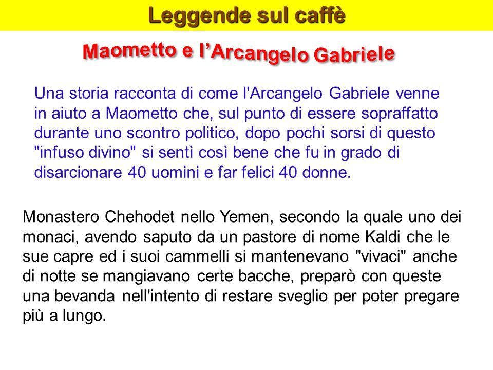 Leggende sul caffè Maometto e l'Arcangelo Gabriele