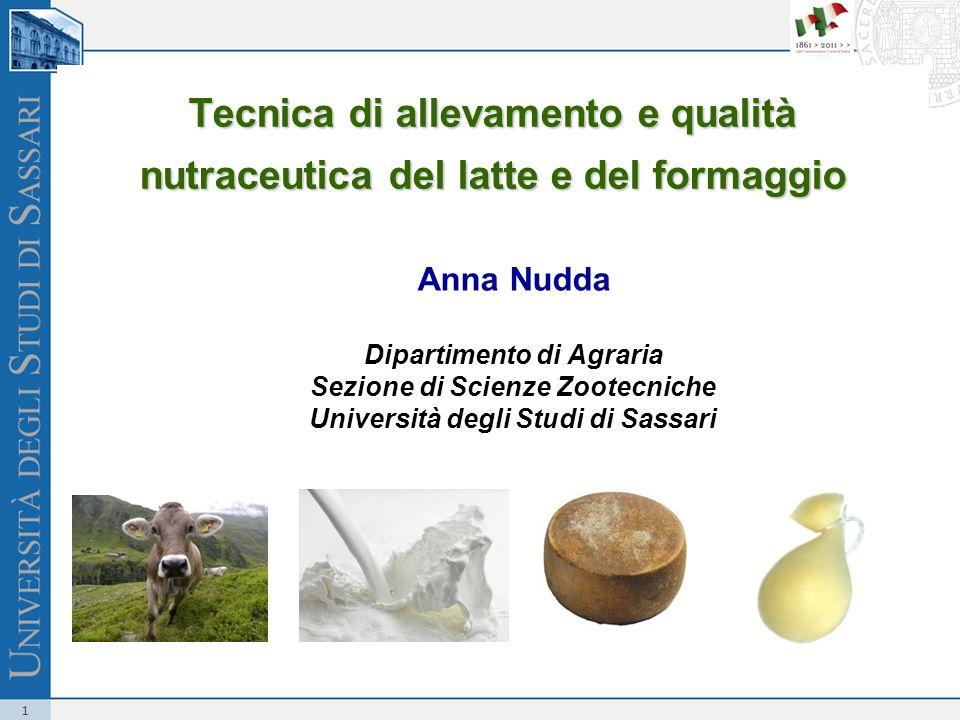 Tecnica di allevamento e qualità nutraceutica del latte e del formaggio