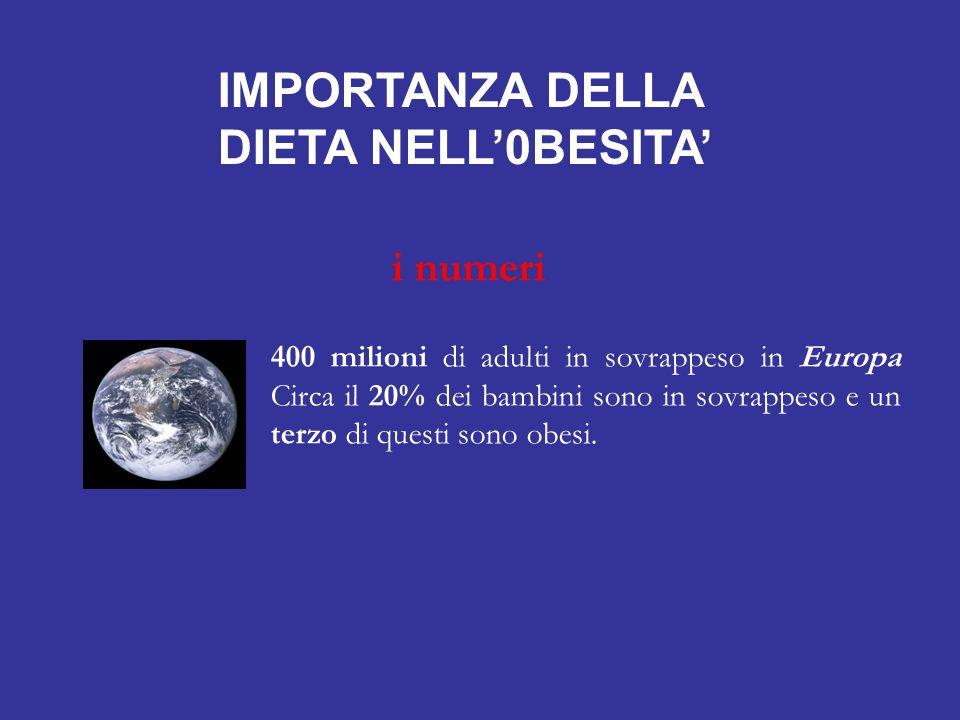 IMPORTANZA DELLA DIETA NELL'0BESITA'