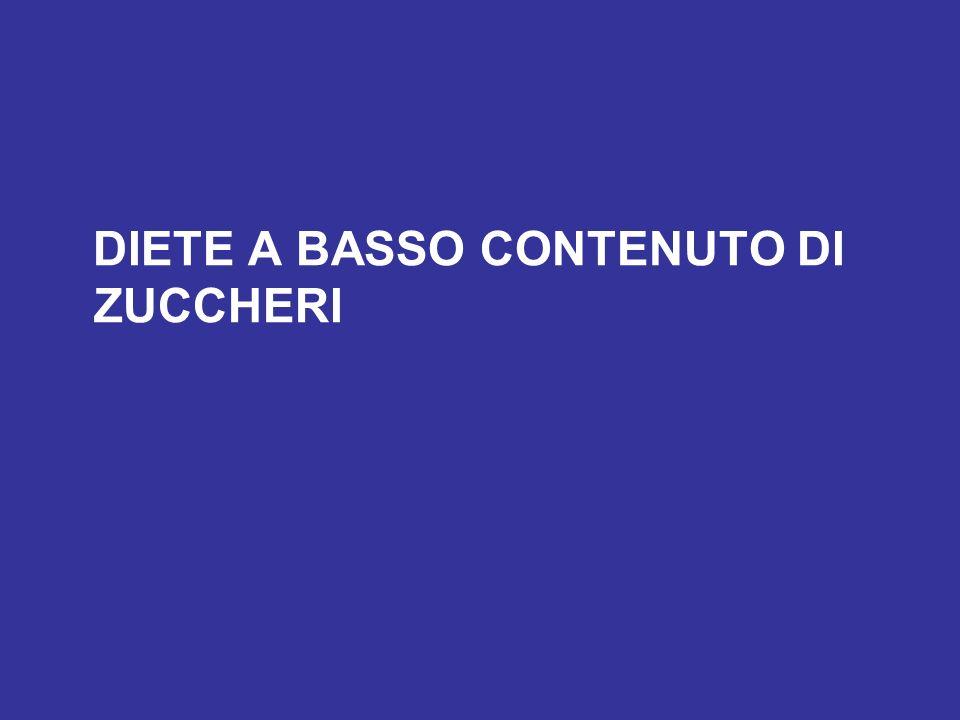 DIETE A BASSO CONTENUTO DI ZUCCHERI