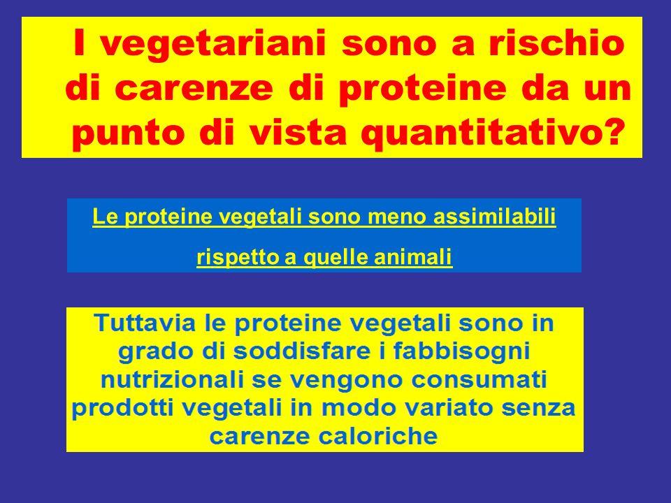 Le proteine vegetali sono meno assimilabili rispetto a quelle animali