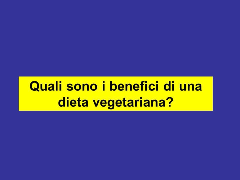 Quali sono i benefici di una dieta vegetariana