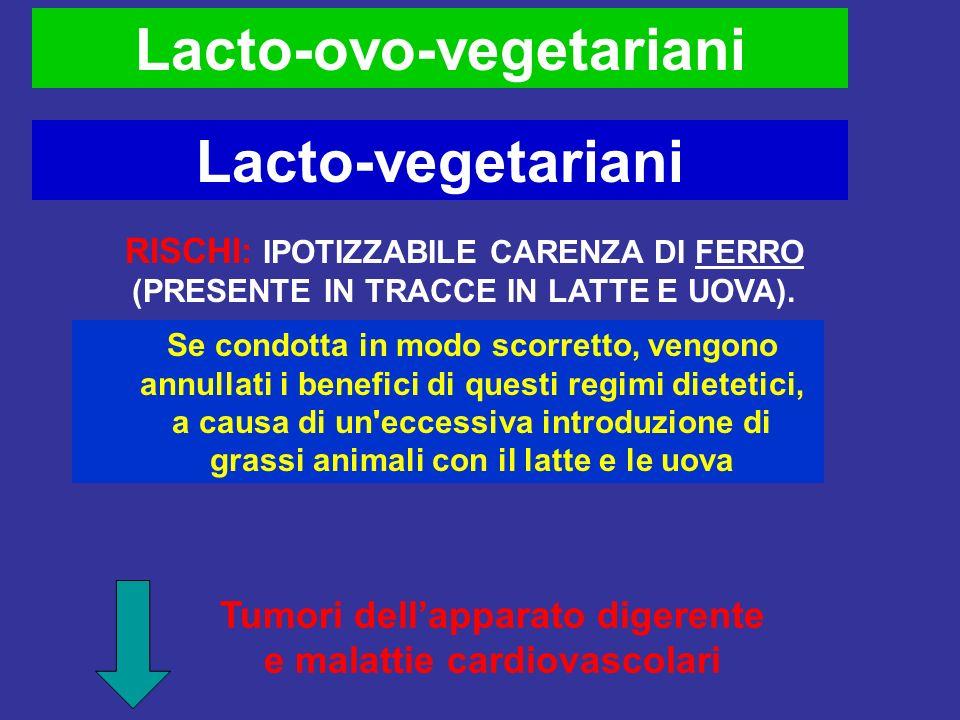 Lacto-ovo-vegetariani Lacto-vegetariani