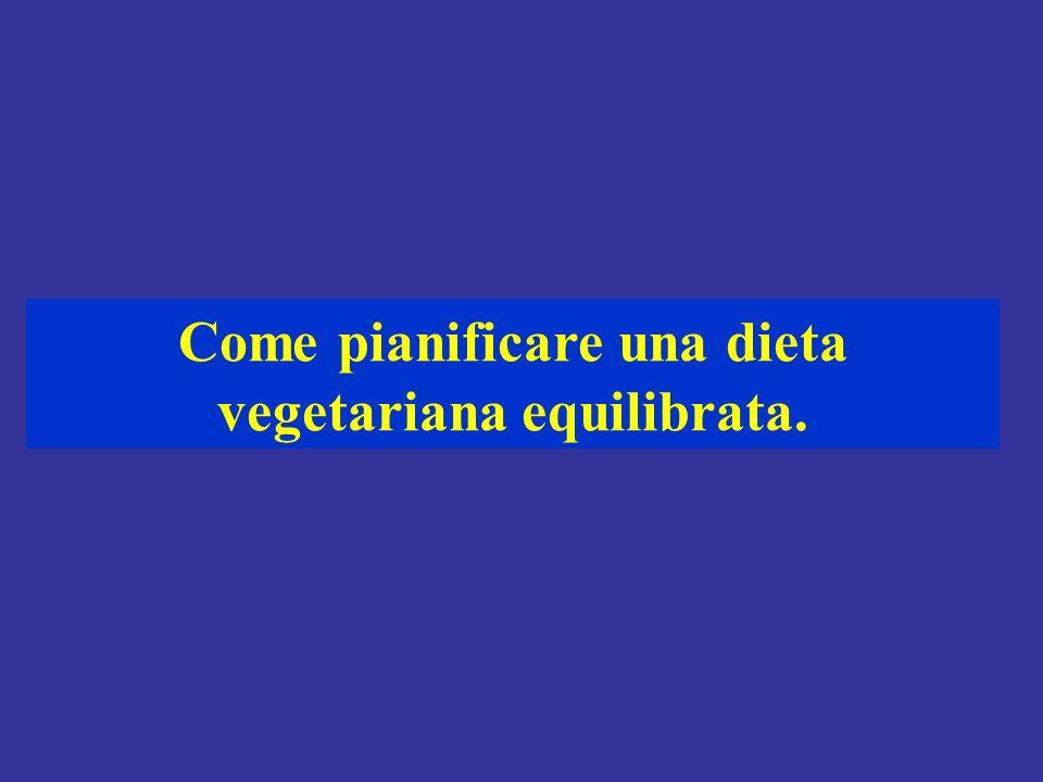 Come pianificare una dieta vegetariana equilibrata.