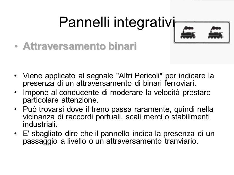 Pannelli integrativi Attraversamento binari