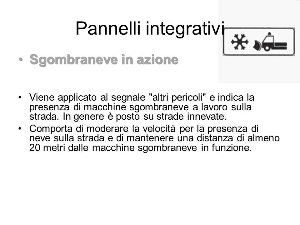 Pannelli integrativi Sgombraneve in azione