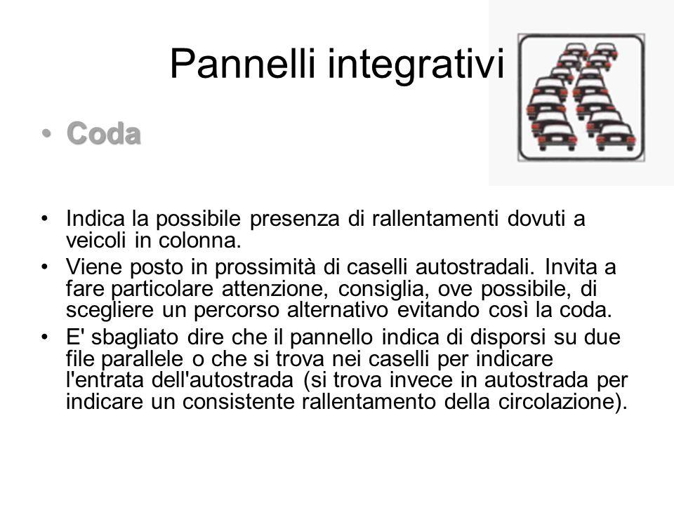 Pannelli integrativi Coda