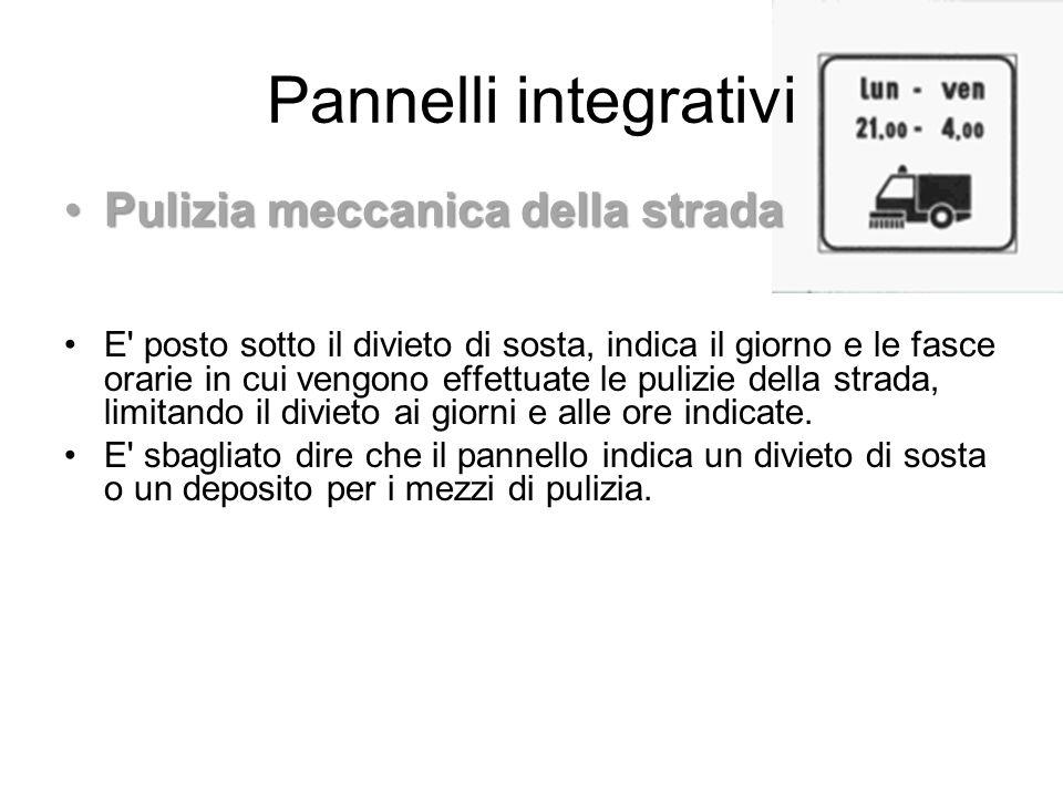 Pannelli integrativi Pulizia meccanica della strada