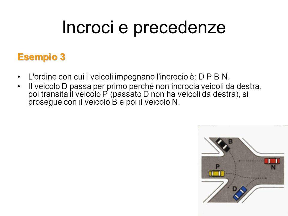 Incroci e precedenze Esempio 3