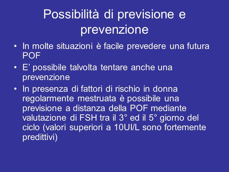 Possibilità di previsione e prevenzione