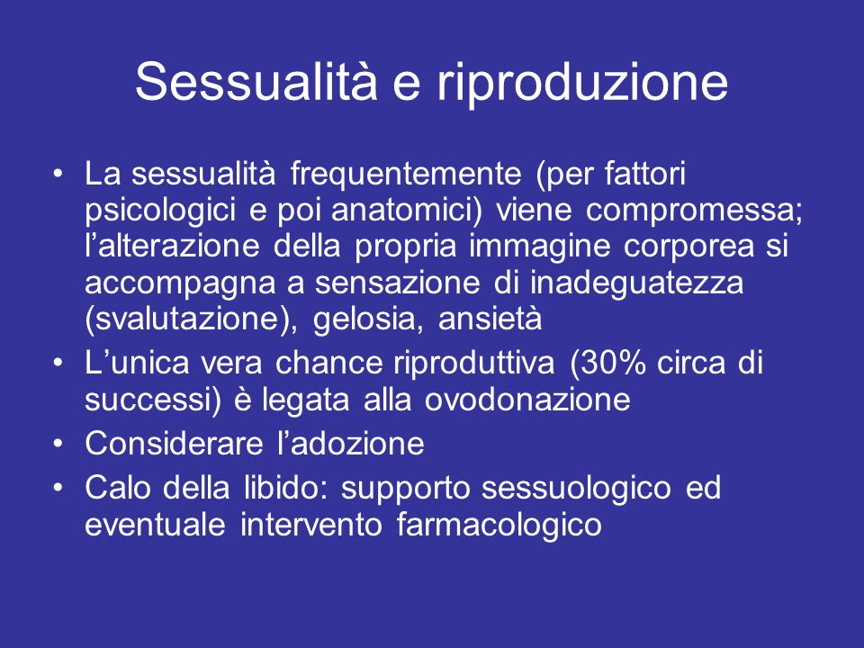 Sessualità e riproduzione
