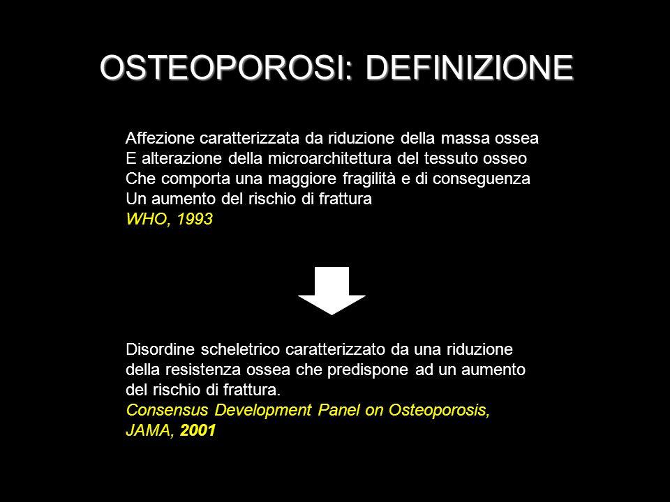 OSTEOPOROSI: DEFINIZIONE