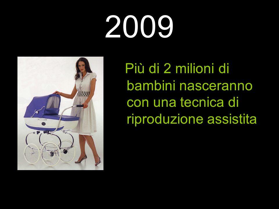 2009 Più di 2 milioni di bambini nasceranno con una tecnica di riproduzione assistita