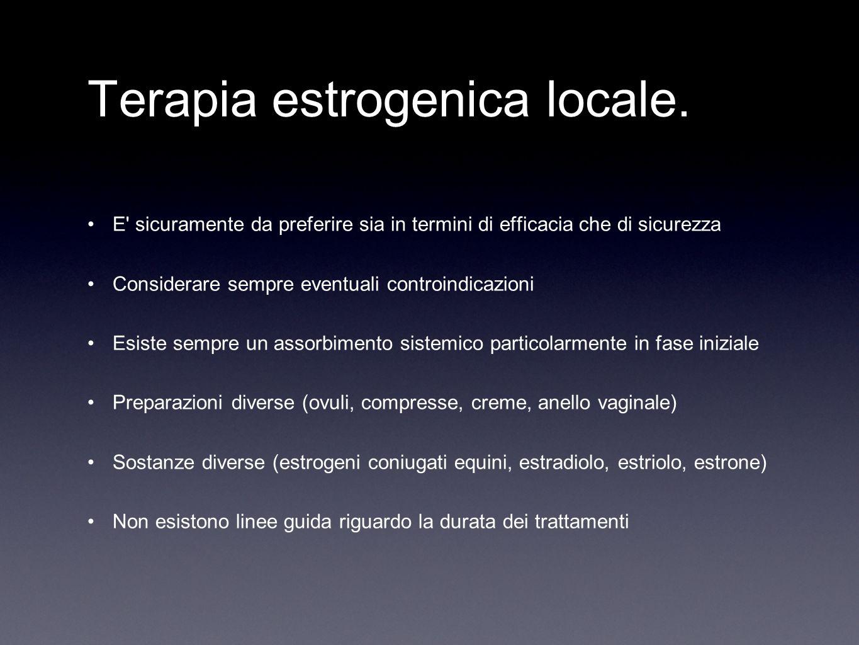 Terapia estrogenica locale.